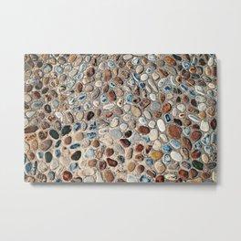 Pebble Rock Flooring II Metal Print