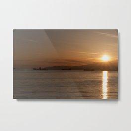Sunset over Vancouver Bay Metal Print
