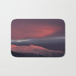 Lenticular clouds over Caballo mountain. Sierra Nevada National Park Bath Mat