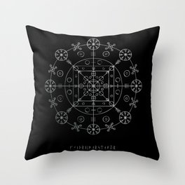WitchRide Stave Throw Pillow