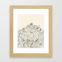 Psychedelic Bunny Mountain Framed Art Print
