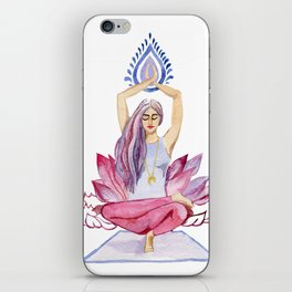 yoga girl iPhone Skin