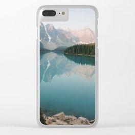 Pastel Sunrise over Moraine Lake Clear iPhone Case
