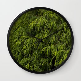 Evergreen Shrub Wall Clock