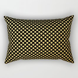 Small gold dots patter Rectangular Pillow