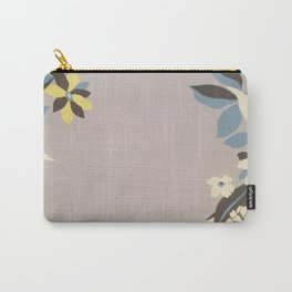 Lavender Border Flowers Carry-All Pouch