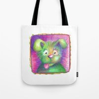 puppy Tote Bags featuring Puppy by WINN CREATIVE