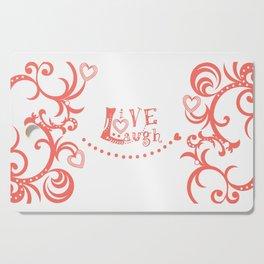 Live Love Laugh in Coral Cutting Board