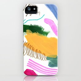 Abstract Brushes Pattern iPhone Case