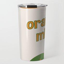 Orange Milk Travel Mug