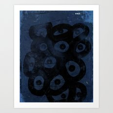 Dark Blue on Blue Art Print