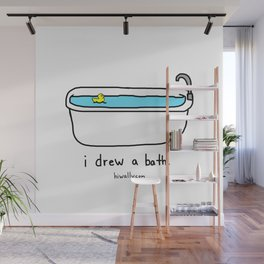 i drew a bath Wall Mural