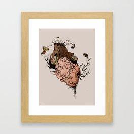 Carnivorous Plant Heart Framed Art Print