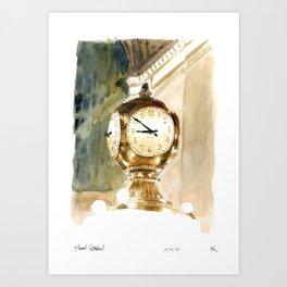 Grand Central Station Clock Art Print