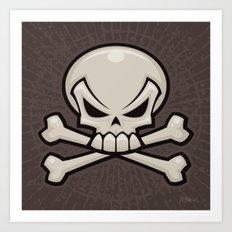 Skull and Crossbones Art Print