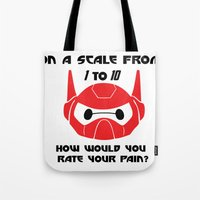 baymax Tote Bags featuring baymax by kyokishop