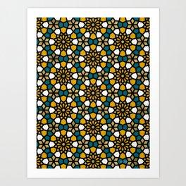 Persian Mosaic – Marigold Palette Art Print