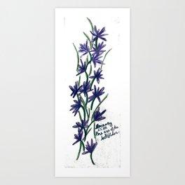 PurpleFlowers Art Print