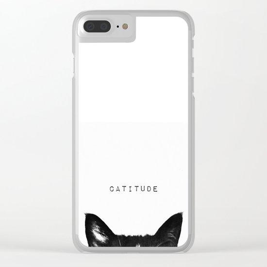 cat - catitude Clear iPhone Case