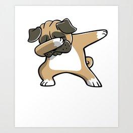 Funny Dabbing Pug Dog Dab Dance Art Print