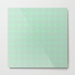 flowers_pattern_verde Metal Print