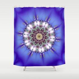 Romantic Blue Kaleidoscope Shower Curtain