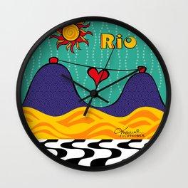 Rio Peace and Love Wall Clock