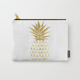 white & gold pineapple Carry-All Pouch