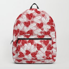 Beautiful Hears print Backpack