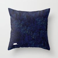 mouse Throw Pillows featuring mouse by liva cabule
