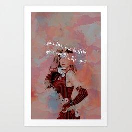 No War or Anger Was Ever Won... Art Print