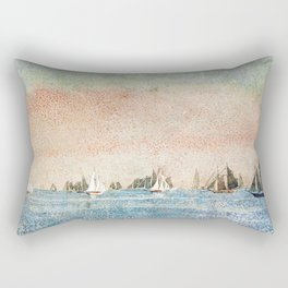 Gloucester harbor fishing fleet by 'Winslow'Homer' Rectangular Pillow