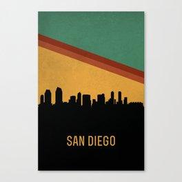 San Diego Skyline Canvas Print