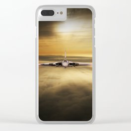 Vulcan Head On Clear iPhone Case