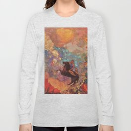 "Odilon Redon ""Muse on Pegasus"" Long Sleeve T-shirt"