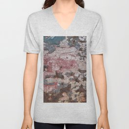 Cracking Paint and Rust Abstract Unisex V-Neck