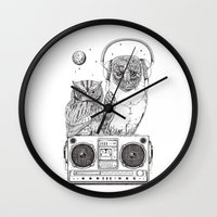 silent Wall Clocks featuring Silent Night ANALOG zine by jewelwing