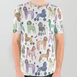 Poodles by Veronique de Jong All Over Graphic Tee
