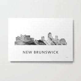 New Brunswick, New Jersey Skyline WB BW Metal Print