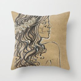 The ghost of bride Throw Pillow