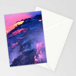 Kilauea Volcano Lava Flow. 4 Stationery Cards
