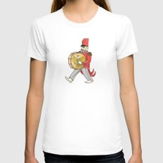 López, bass drum Womens Fitted Tee White SMALL