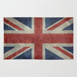 UK Flag, Dark grunge 1:2 scale Rug