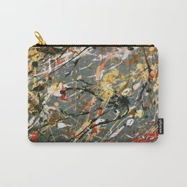 Jackson Pollock Interpretation Acrylics On Canvas Splash Drip Action Painting Carry-All Pouch