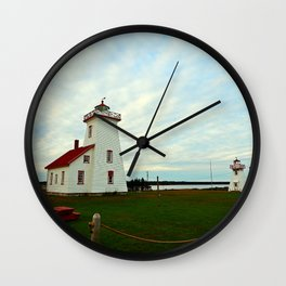 Lighthouse and Range Light of Wood Islands Wall Clock