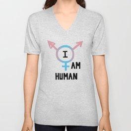 I Am Human Unisex V-Neck