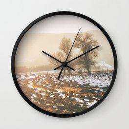 Morning field Wall Clock