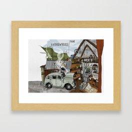 The Old Garage Framed Art Print