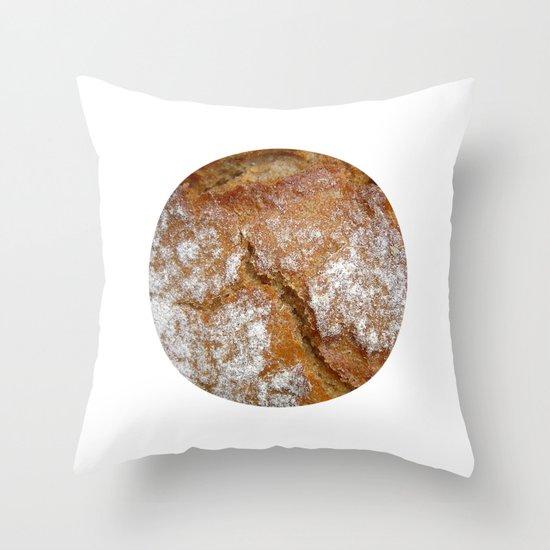 bread macro II Throw Pillow