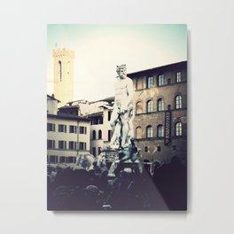 Fountain of Neptune, Palazzo Vecchio Metal Print